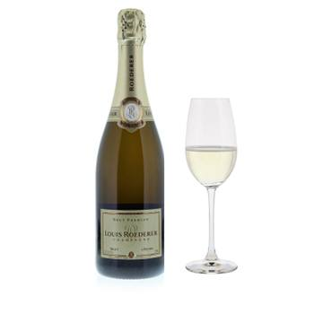 Minneapolis flowers  -  Louis Roederer Brut with Flutes Gift Set Baskets Delivery