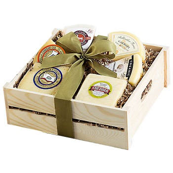 Tulsa flowers  -  Aged Cheese Tasting Party Box Baskets Delivery