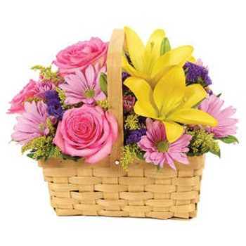 Boston, United States online Florist - Basket Of smiles Bouquet