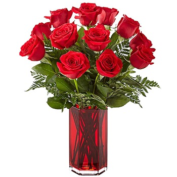 Tulsa flowers  -  Be My Valentine Bouquet Baskets Delivery