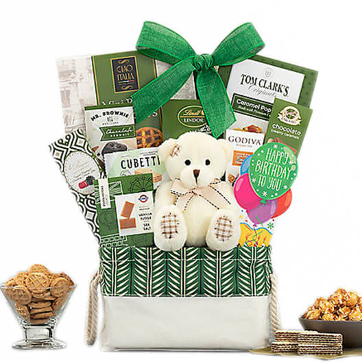USA, United States online Florist - Birthday Wishes Gift Basket Bouquet