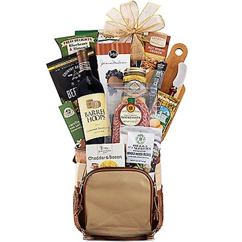 Long Beach flowers  -  Caddies Dream Gourmet Cooler Combo Baskets Delivery