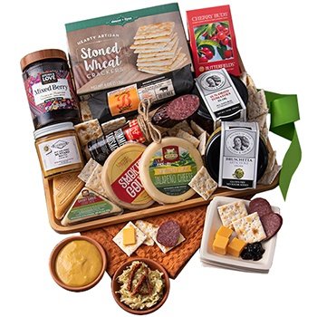 USA, United States online Florist - Cheer of Cheese Gift Basket Bouquet