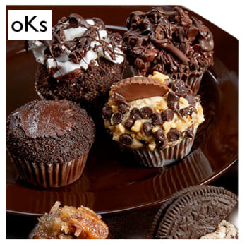 Indianapolis, United States flowers  -  Chocolate Lovers Cupcake Collection Baskets Delivery