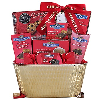 Houston flowers  -  Chocolate Lovers Dream Gift Basket Baskets Delivery