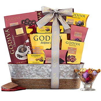 New York flowers  -  Chocolate Paradise Gift Basket Flower Delivery