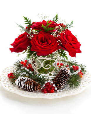 Columbus flowers  -  Christmas Arrangement Baskets Delivery