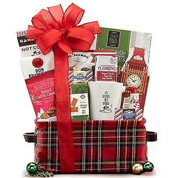 Boston, United States online Florist - Christmas Coffee Break Gift Basket Bouquet