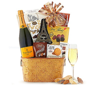 Los Angeles flowers  -  Clicquot Signature Champagne Gift Bag Baskets Delivery