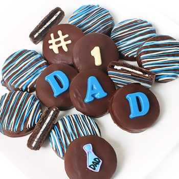 Tulsa flowers  -  Dipped Cookies for Dad Baskets Delivery