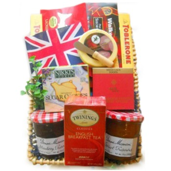 Long Beach flowers  -  English Breakfast Assortment Baskets Delivery