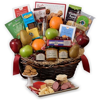 USA, United States online Florist - Fall Harvest Basket Bouquet