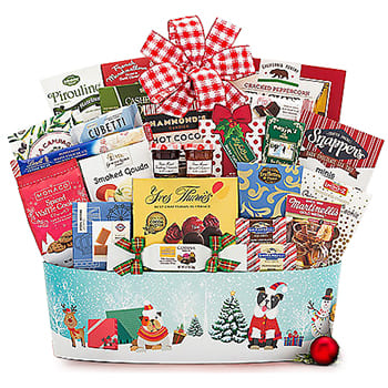 Columbus flowers  -  Festive Favorites Gift Basket Baskets Delivery