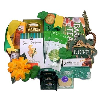 Oakland flowers  -  Four Leaf Clover Gift Basket Baskets Delivery