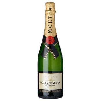 Columbus blomster- Full flaske Moet og Chandon Imperial Cham kurver Levering