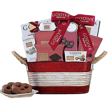 Arlington flowers  -  Godiva Chocolate Love Baskets Delivery