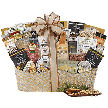 Houston flowers  -  Gold Collection Gift Basket Baskets Delivery