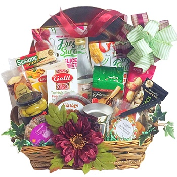 Long Beach flowers  -  Golden Platter of Delights Baskets Delivery