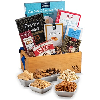 Austin flowers  -  Gourmet Gathered Gift Set Baskets Delivery