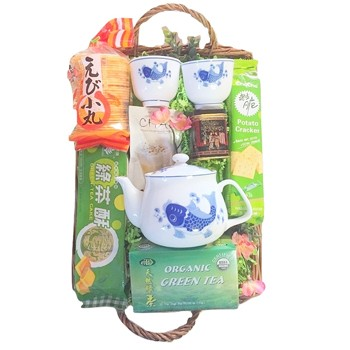 Los Angeles flowers  -  Green Tea Perfection Baskets Delivery