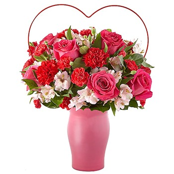 Houston flowers  -  I Adore You Bouquet Baskets Delivery