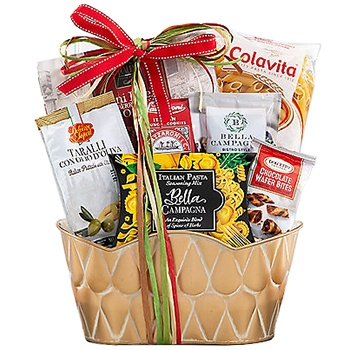 Long Beach flowers  -  Italian Experience Deluxe Gift Basket Baskets Delivery