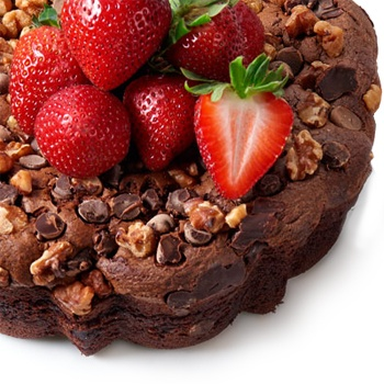 Los Angeles flowers  -  Italian Style Chocolate Coffee Cake Flower Delivery