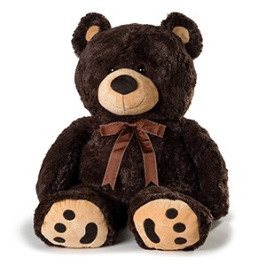 San Jose bunga- Cheerful Plush Brown Bear Penghantaran