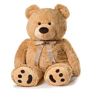 Tulsa flowers  -  Cheerful Plush Tan Bear Delivery