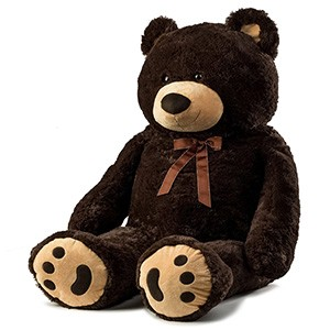 Miami flowers  -  Cute Jumbo Plush Bear Delivery