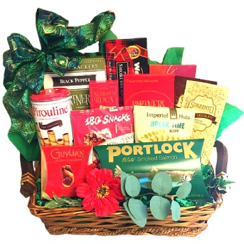 Virginia Beach flowers  -  Kosher Delights Gift Tray Baskets Delivery
