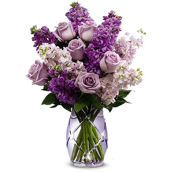 Long Beach flowers  -  Lavender Haze Baskets Delivery