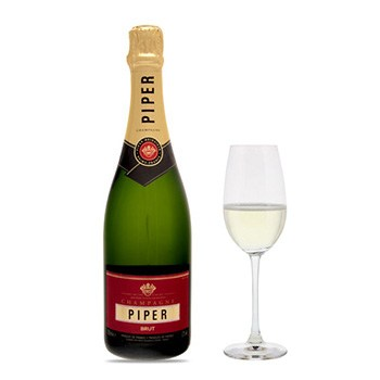 Wichita flowers  -  Piper-Heidsieck Brut Cuvee with Flutes Gift S Baskets Delivery