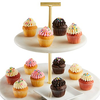 Austin flowers  -  Miniature Birthday Cupcakes Baskets Delivery