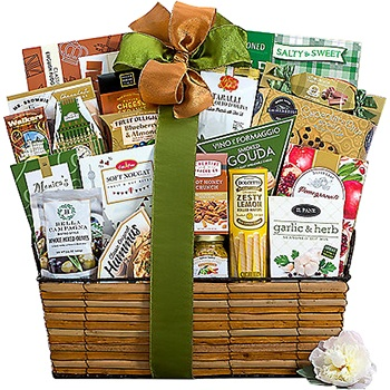 New York flowers  -  Mountain Of Favorites Gift Basket Flower Delivery