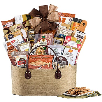 Boston blomster- Over The Top Gift Basket Blomst Levering