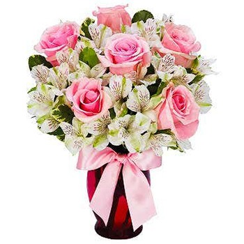 Long Beach flowers  -  Pink Dreamer Baskets Delivery