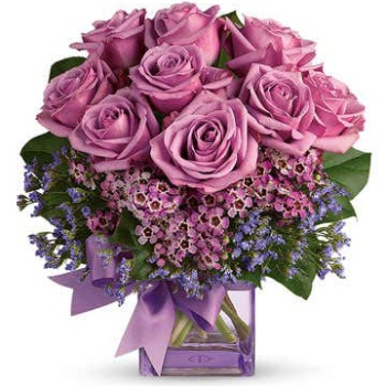 Long Beach flowers  -  Royal Purple Petals Baskets Delivery