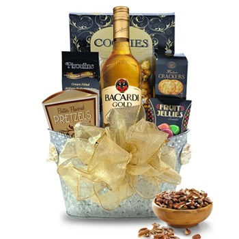 Long Beach flowers  -  Rum Gift Basket Baskets Delivery
