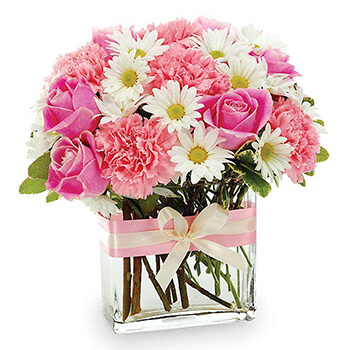 Long Beach flowers  -  Shades Of Pink Baskets Delivery