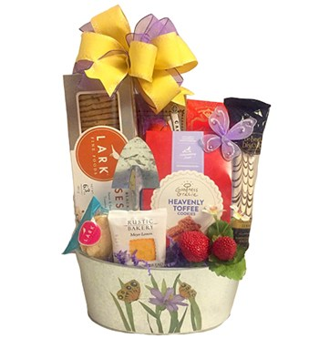 Minneapolis flowers  -  Spring Delights Gift Basket Flower Delivery