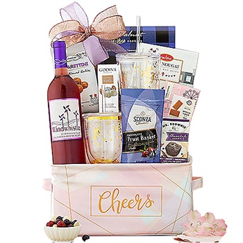 Colorado Springs flowers  -  Stylish Wine Baskets Delivery