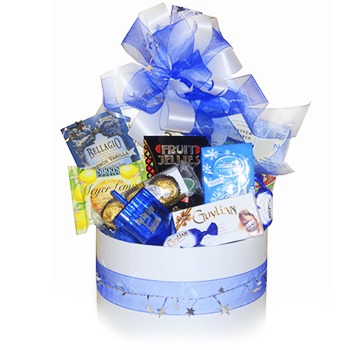 Dallas bunga- Set Hadiah Sweet Hanukkah Baskets Penghantaran