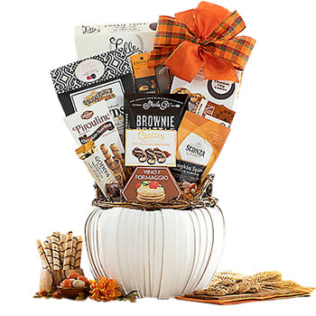 Boston, United States online Florist - Sweetness of Autumn Gift Basket Bouquet