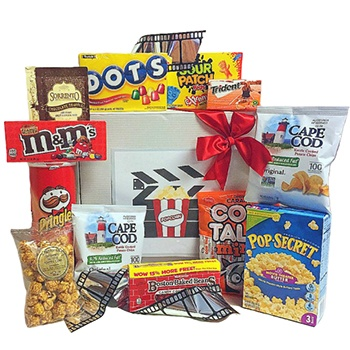 Long Beach flowers  -  Theater Treats Assortment Baskets Delivery