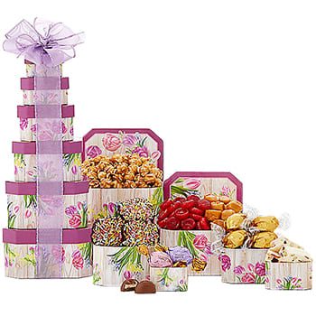 Boston, United States flowers  -  Tower of Tuscan Treats Baskets Delivery