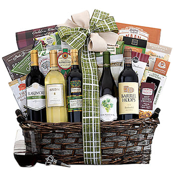 USA, United States online Florist - Ultimate Eastpoint Cellars California Gift Ba Bouquet