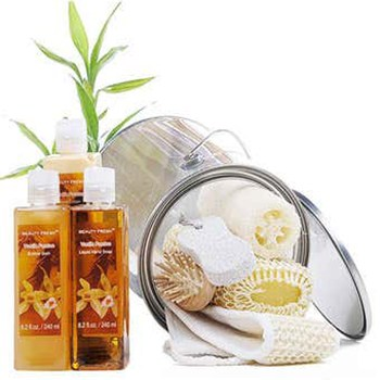 Long Beach flowers  -  Vanilla Bath Day Baskets Delivery