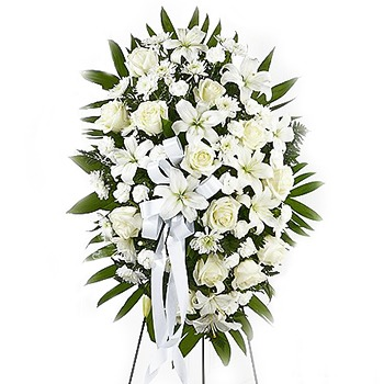 USA, United States online Florist - White Flower Memorial Bouquet