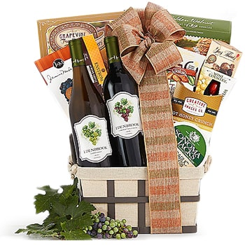 Boston, United States online Florist - Wine and More Basket Bouquet